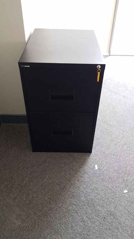 2 Filing Cabinets, Black, 2 Drawers For Hanging Files For Sale In Dubai |  Dubai | UAE | Storat