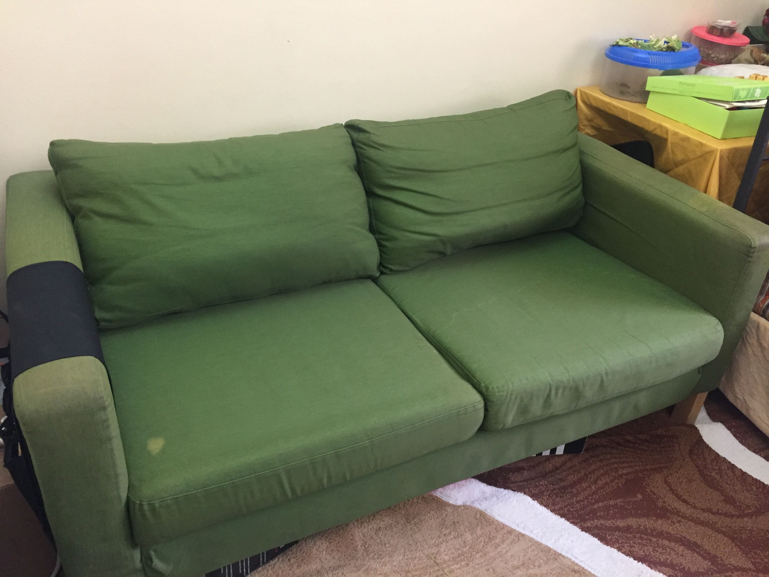 2 Seater sofa from IKEA in green colour Sharjah UAE