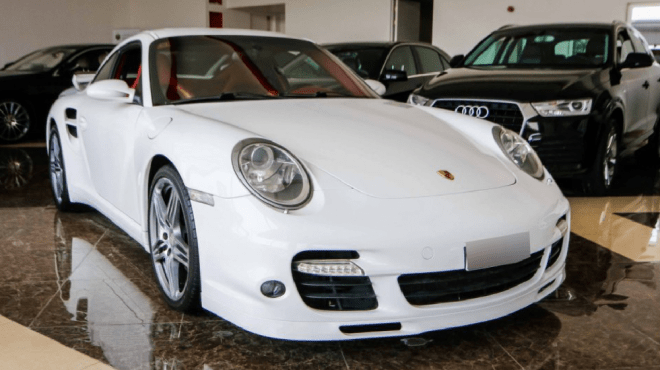 2008 White Porsche 911 Turbo available for sale in Abu Dhabi