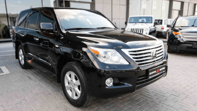2009 Black Lexus LX 570 for sale in Abu Dhabi, UAE.