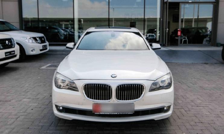 2012 White BMW 750 Li For Sale In Abu Dhabi