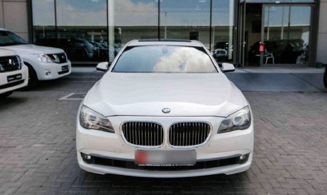 2012 White BMW 750 Li For Sale In Abu Dhabi.