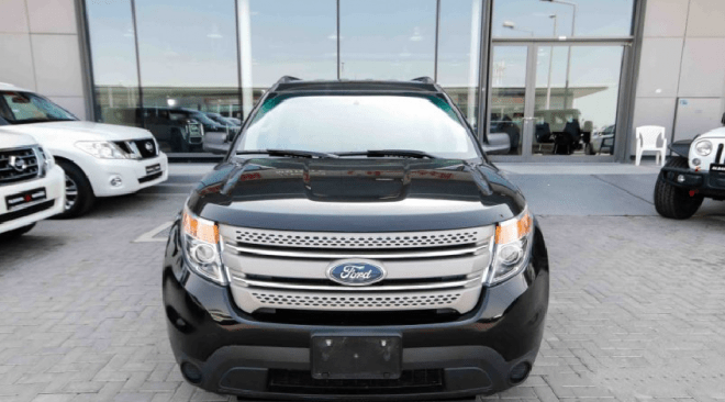 2013 Black Ford Explorer 4WD for sale in Abu Dhabi, UAE.