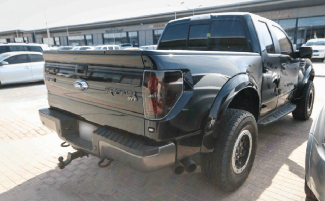 2014 Black Ford Ranger SVT 6.2L available for sale in Abu Dhabi.