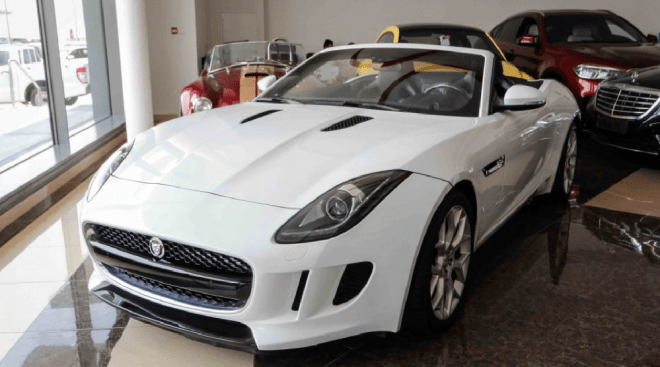 2014 white Jaguar F-Type S available for sale in Abu Dhabi