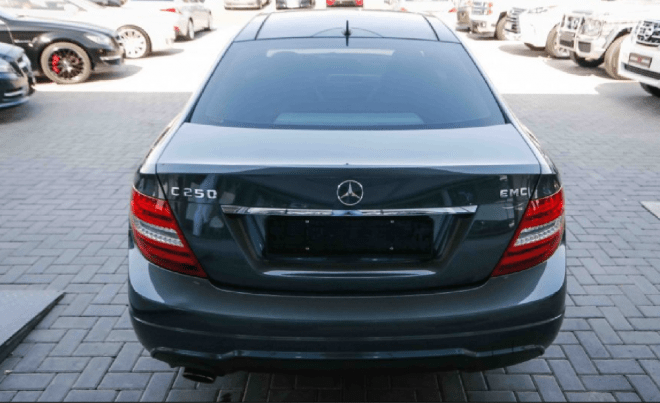 2015 Black Mercedes-Benz C 250 Turbo available for sale in Abu Dhabi.