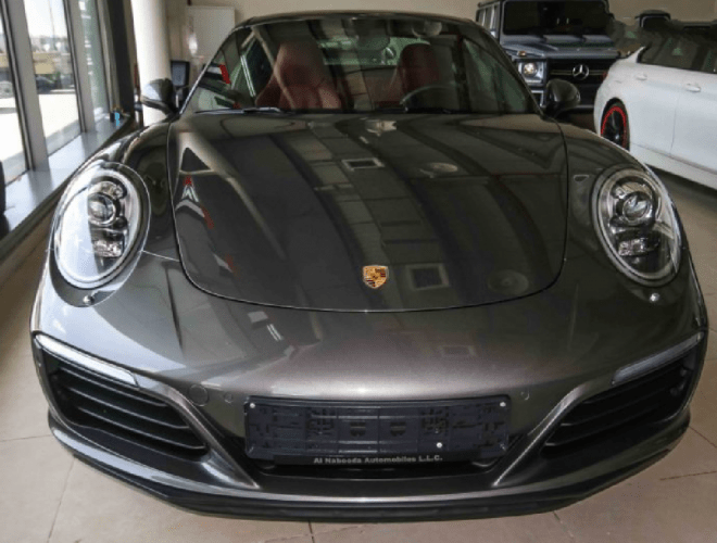 2017 Brown Porsche 911 Carrera for sale in Abu Dhabi.