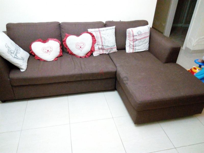 pan emirates l shape 3 seater sofa cum bed sharjah uae
