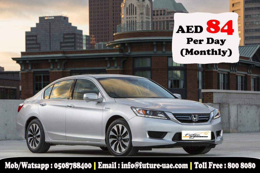Honda Accord Now Just Aed 84 Per Day On Monthly Contract Dubai
