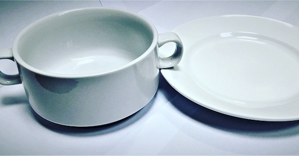 DUBAI HOTEL SUPPLY OF SOUP BOWL WITH HANDLE 550 ML AND SAUCER