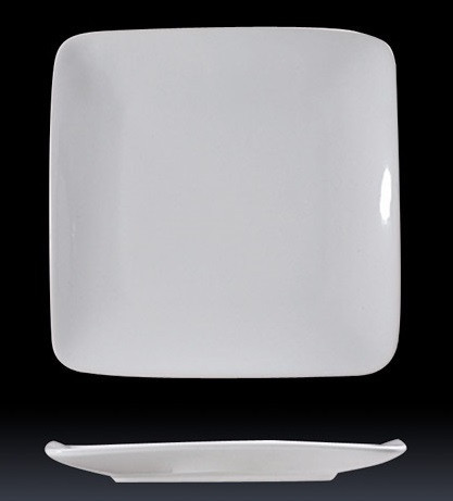 DUBAI HOTEL SUPPLY OF CERAMIC ROUND-EDGE SQUARE SERVING PLATE
