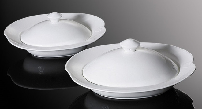 """DUBAI HOTEL SUPPLY OF STAR SERVING POT WITH LID 10"""" & 12"""" INCH"""