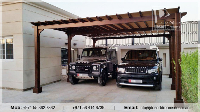 Cars Parking Pergola Abu Dhabi Garden Wooden Shades Wooden Structures In Uae Abu Dhabi