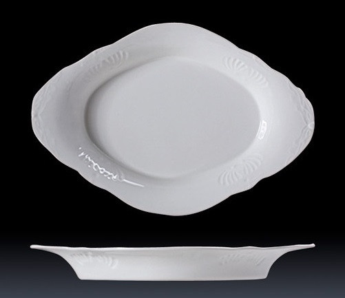DUBAI HOTEL SUPPLY OF CERAMIC FLORAL SERVING TRAY