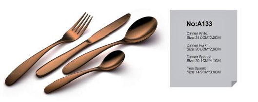 DUBAI HOTEL SUPPLY OF STAINLESS STEEL BRONZE DINNER CUTLERY