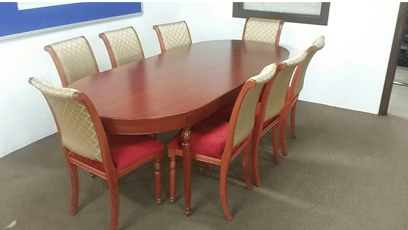 DINING TABLE FOR SALE WITH 8 CHAIRS