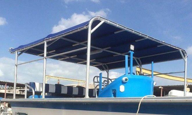Boat Canopies, Bimini tops, MAJALLA, - railings and other aluminium products