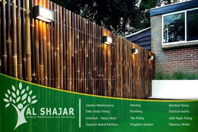 Bamboo Fence Services in Abu Dhabi