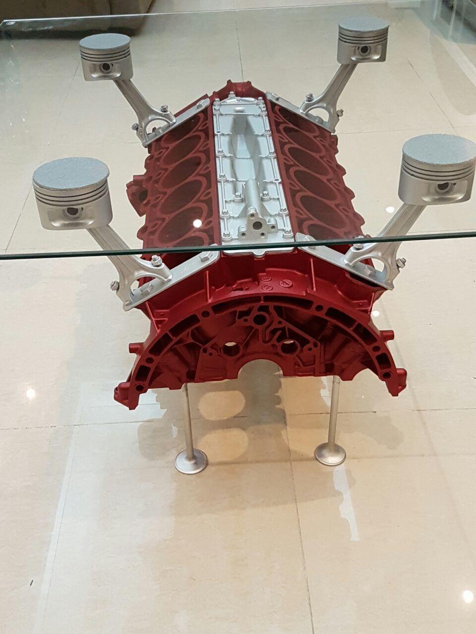 Original Mercedes Benz V12 Engine Coffee Table Dubai