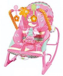 Baby Time iBaby Infant to Toddler Rocker with Bouncer and Rocking Chair - Pink
