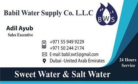 Fresh Water Supply Services Available in Dubai