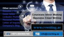 Corporate letter Making and Business Email Writing Services in UAE