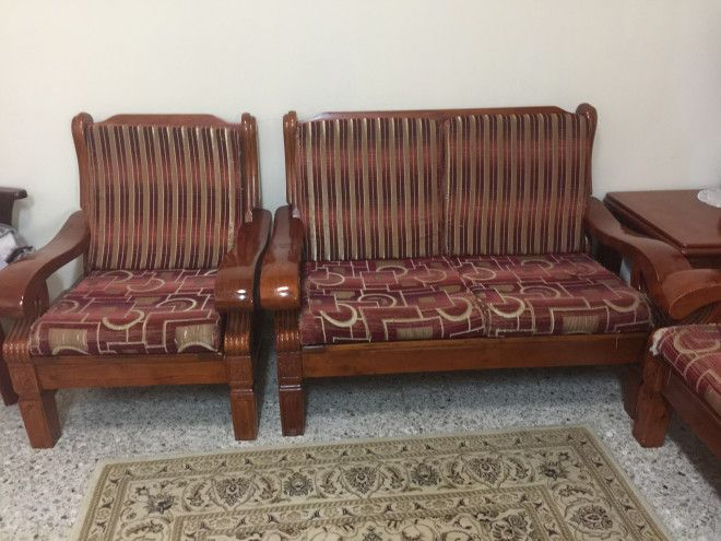 7 Seater Wooden Sofa Set On Sale Abu Dhabi Uae Storat