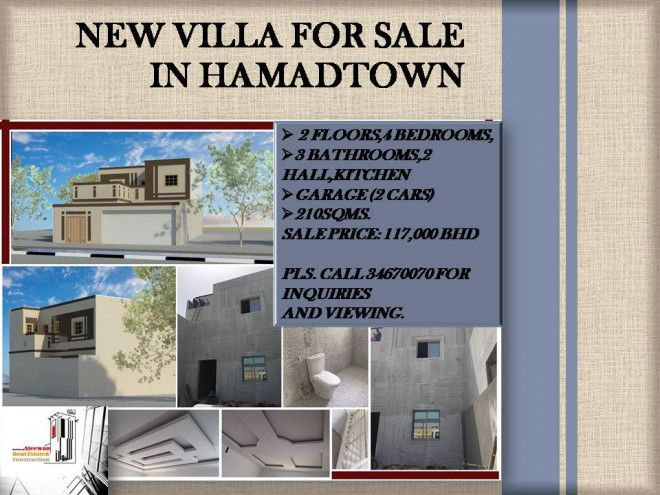 New Villa for sale in Hamadtown ready permit to build 1 more bedroom