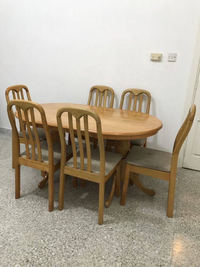 Teak wood dining table for sale in abu dhabi