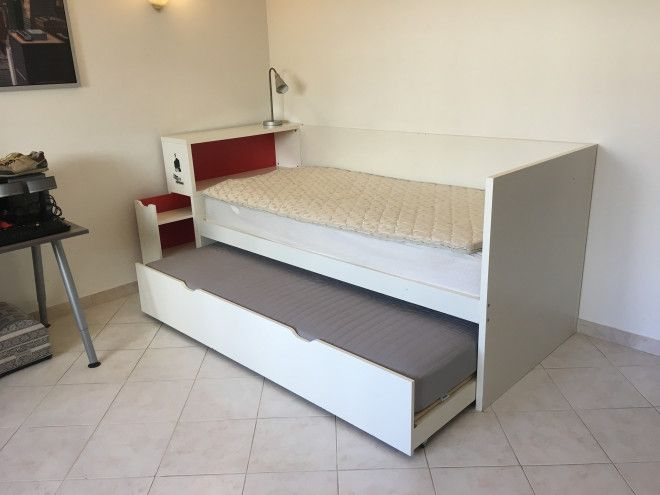 Ikea single bed with pull out extra mattress dubai uae storat Home furniture online uae