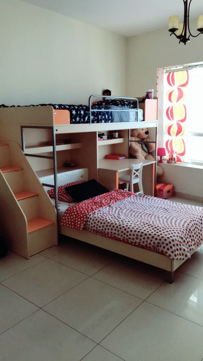 Bunk Bed By United Furniture Wooden With Storage Space And Study Table