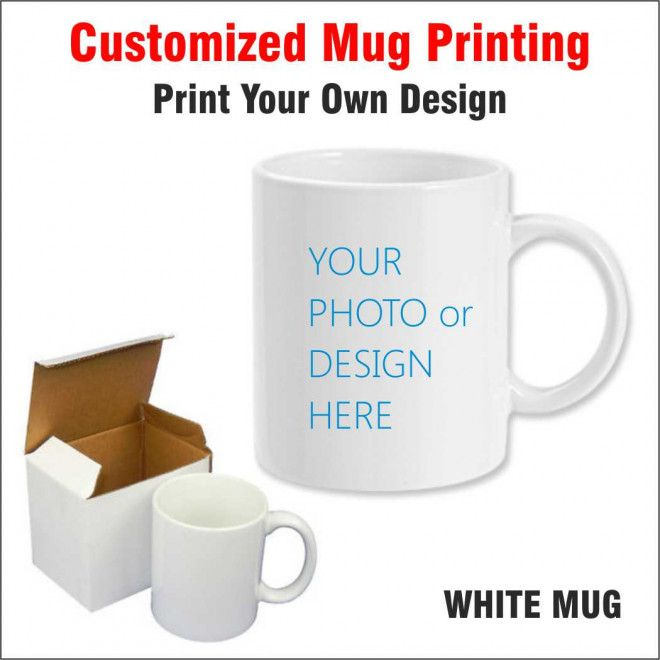 Customized White Mug with Customized design