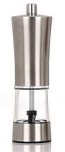 Restaurantware Stainless steel Bottom-Glass Pepper Mill