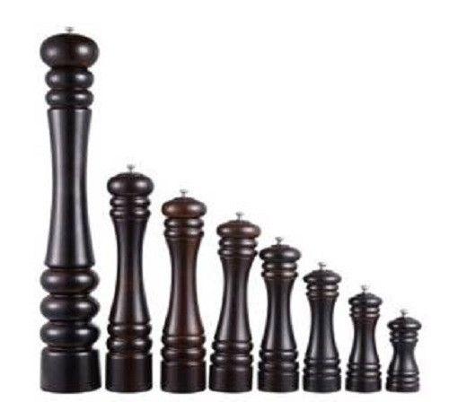 Restaurantware Wooden S&P Mill - Series B (Black Theme)