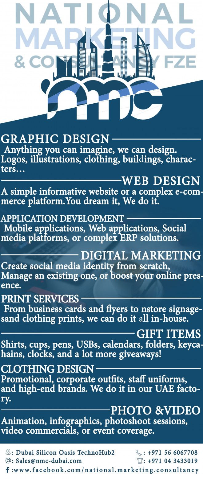 Banner, signboard, business card, flyers,catalog,brochure services etc in Dubai