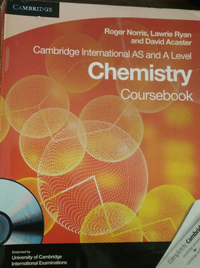 Cambridge Chemistry AS and A level textbook for sale