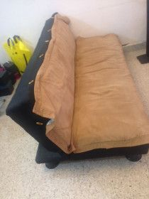 sofa bed brown color   in good condition for sale