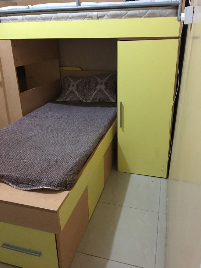BUNK BED UNIT (BUNK BED+DRESSING TABLE+CUPBOARD+SIDE TABLE)