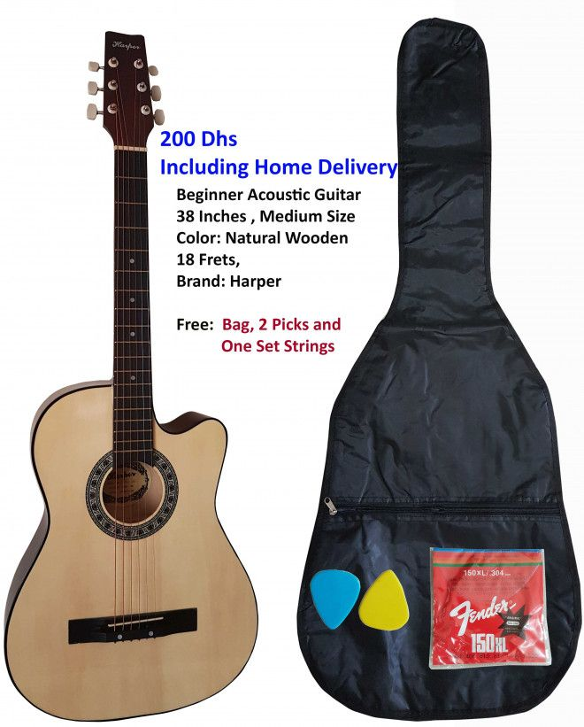 Brand New Harper Acoustic Beginner Guitar for sale in Abu Dhabi