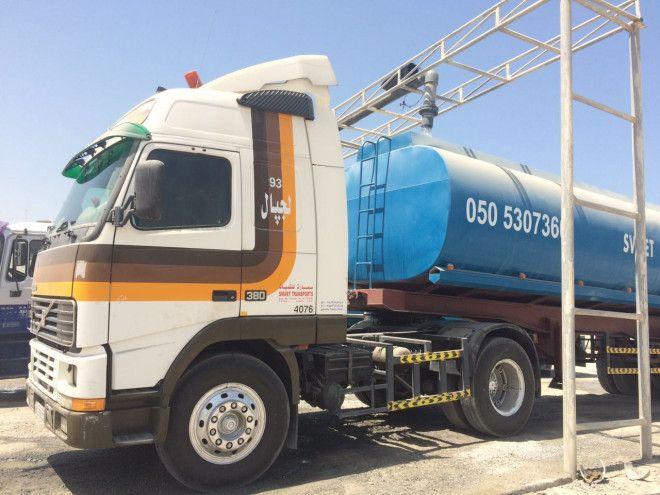 Drinking Water tanker for sale in Ajman, very clean.