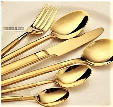 Dubai Hotel Supply - Stainless Steel Complete Cutlery Set (Gold & Silver)