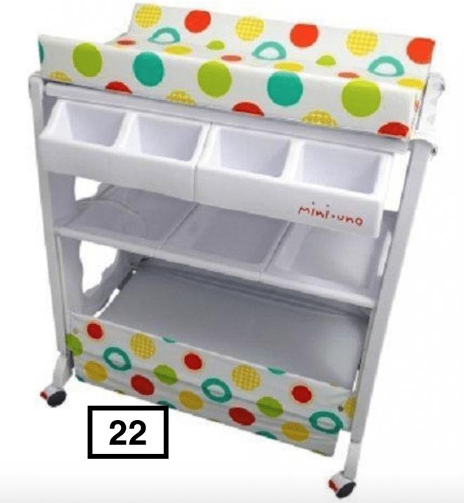 Baby Changing Table/Storage Bath/Tub