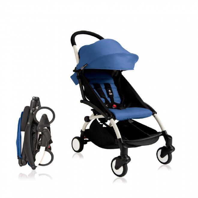 BabyTime Yoyo Stroller (Babyzen / BabyThrone) Mini Stroller Pram - Denim Blue