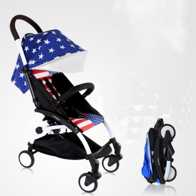 BabyTime Yoyo Stroller (Babyzen) Mini Stroller - American Flag Limited Edition