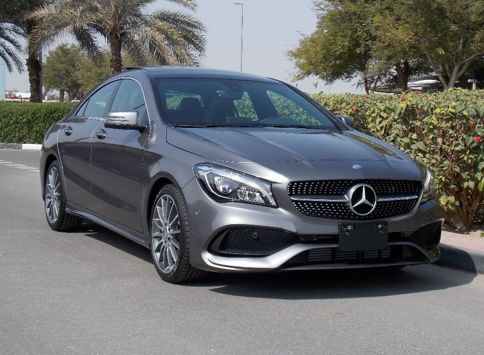 Brand new 2018 grey mercedes benz cla 250 amg 2 0l v4 for Mercedes benz brand image