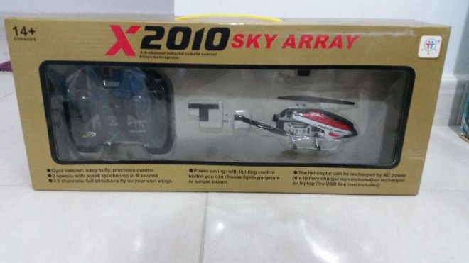 Brand New Helicopter toy with remote for sale in Sharjah