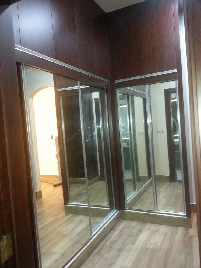 Buy Custom-Made Melamine Wardrobes with mirrors and sliding door - Pure Italian