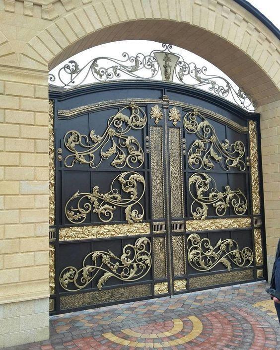 Classic Door in Abu Dhabi: Custom Main Gates and Fences - Pure Italian