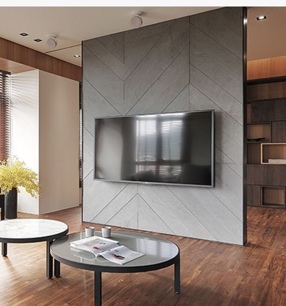 Custom TV Unit With Cladding & Partition For Sale In Abu