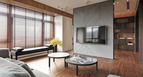Custom TV unit with cladding & partition for Sale in Abu Dhabi - Pure Italian